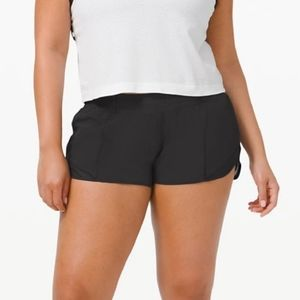 "NWT! Lululemon Hotty Hot Short 2.5"" Black"